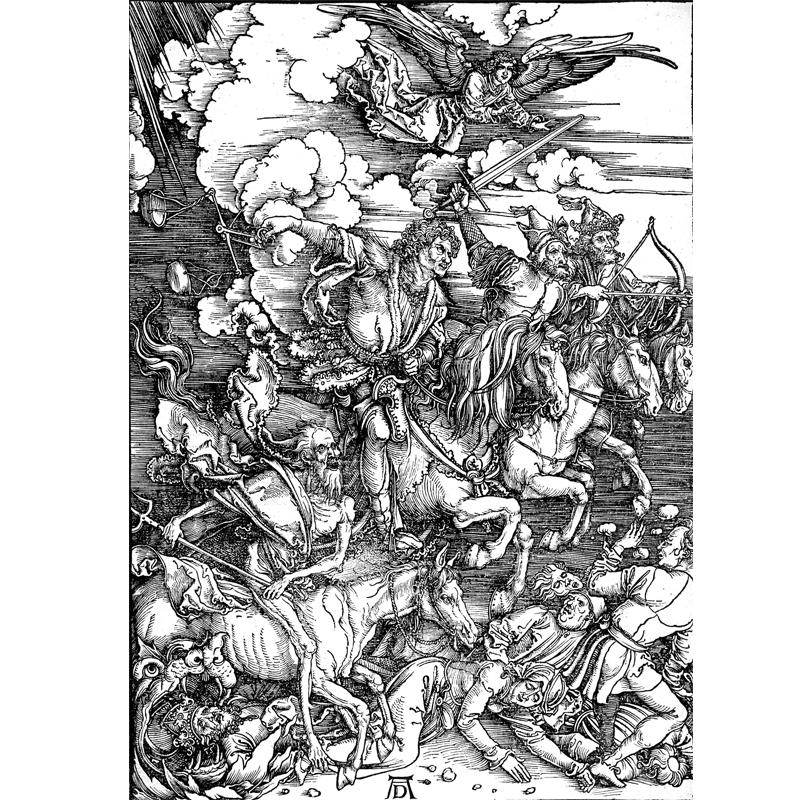 Albrecht Dürer (1497-1498) Apokalüptilised ratsanikud.